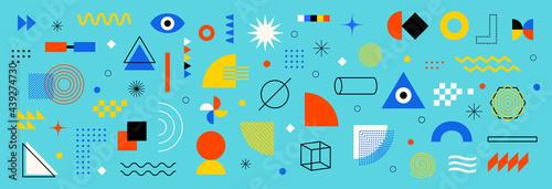 Fotografia, Obraz Abstract geometric shapes set