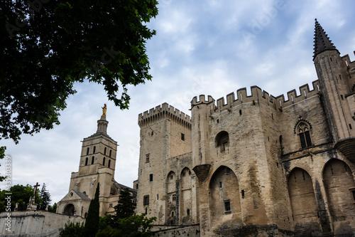 Fotografia, Obraz La façade du palais des papes à Avignon