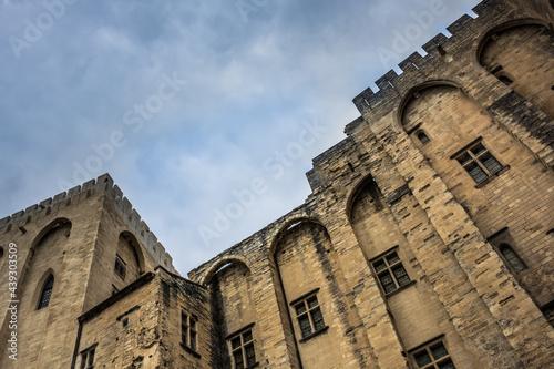 Fototapeta La façade du palais des papes à Avignon
