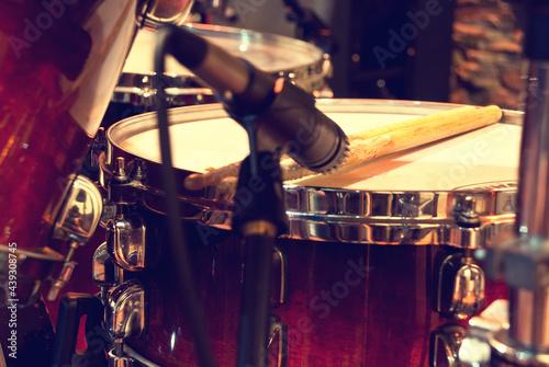 drum with drumstick Fototapet