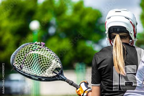 Lacrosse female team - american teamsports themed photo Fototapet