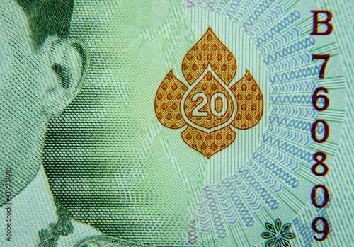 Fotografia, Obraz Detail on Thai baht currency