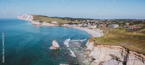 Photo Aerial view of Freshwater Bay, Isle of Wight, England