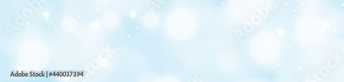 abstract light blue background with bokeh, Christmas background with snow