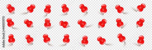 Cuadros en Lienzo Realistic red push pins