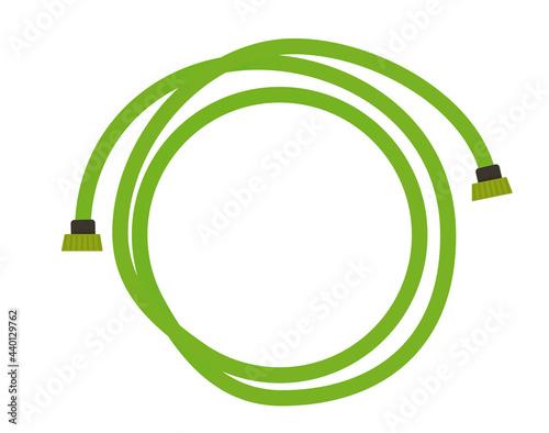 Green garden hose. vector illustration Fototapeta