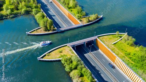 Foto Aquaduct Veluwemeer, Nederland