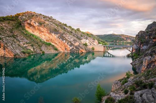 Photo Tranquera reservoir situated in Nuévalos, Zaragoza, Aragón, Spain