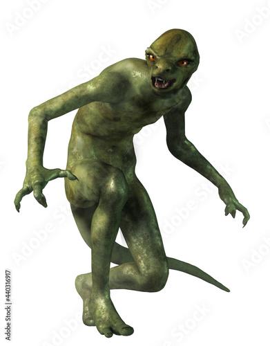 The Lizard Man, a half human, half reptilian monster Fototapeta