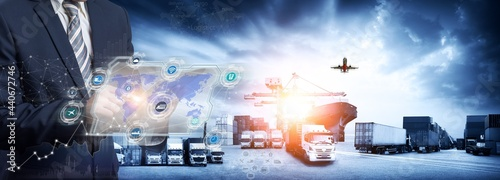 Fotografering Smart logistics and transportation