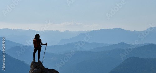 Fotografie, Obraz Mountaineer Young Woman
