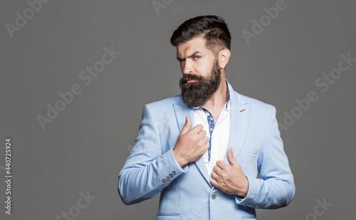 Fotografie, Obraz Elegant handsome man in suit