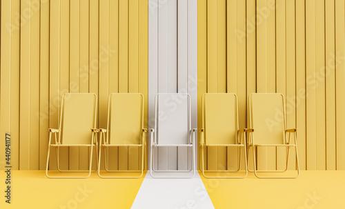 Valokuva monochromatic beach chairs