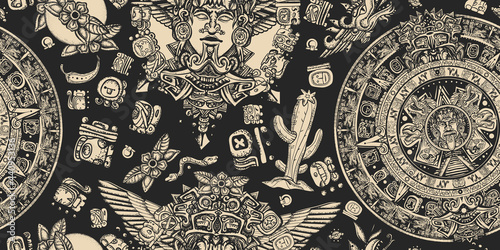 Mexican mesoamerican culture Fototapeta