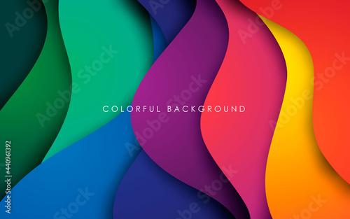 Fotografie, Obraz Colorful fluid background dynamic textured geometric element