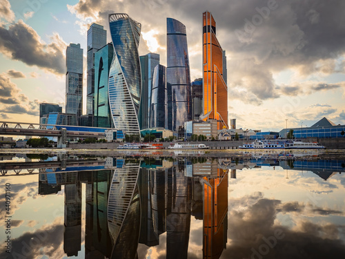 Photo Moskva-city district in Moscow