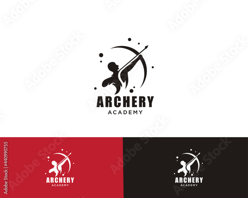 Fototapeta archer logo creative design template sign symbol