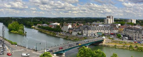 Photo Panoramique vue sur le Pont-de-l'Oise et Saint-Ouen-l'Aumône (95310) depuis les
