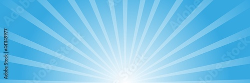 Fotografie, Obraz Abstract background with sun ray. Summer vector illustration