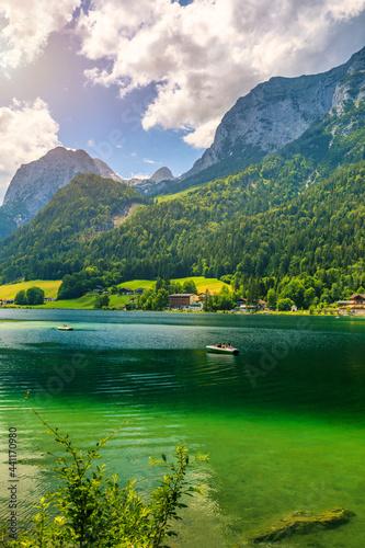 Fotografija Hintersee lake beautiful scene of mountains and turquoise water of Hintersee lake