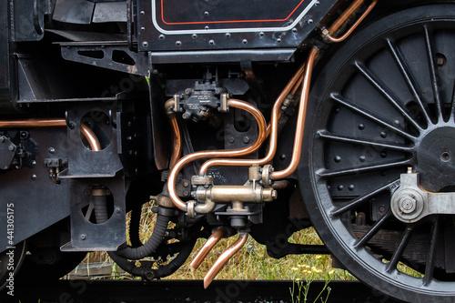 Fototapeta steam train wheels