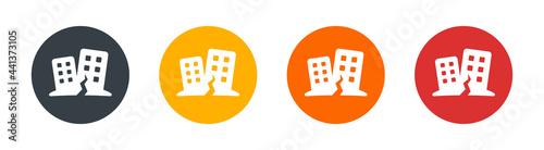 Cuadros en Lienzo Earthquake icon vector illustration