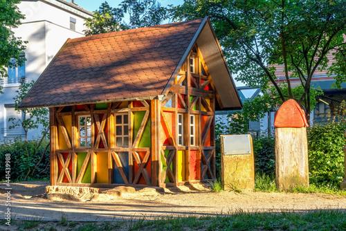 Canvas Print The house of the seven dwarfs in Lohr am Main, Bavaria