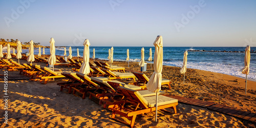 Sunset on the beach, Cyprus,Paphos Poster Mural XXL