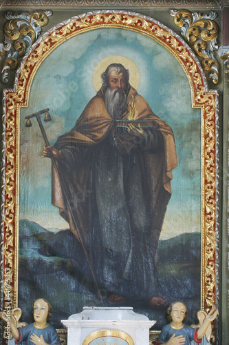 Saint Anthony, altarpiece on the altar of Saint Anthony the Hermit in the parish Fototapete