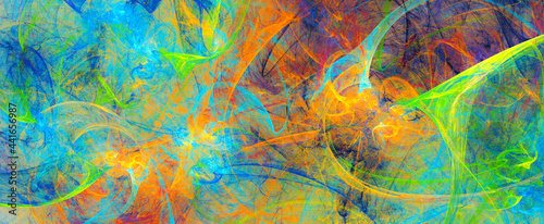 Fotografie, Obraz Abstract bright color background
