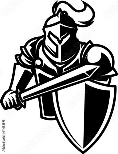 Canvastavla knight with sword Vector
