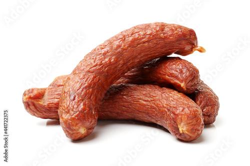 Obraz na plátně sausage on white background