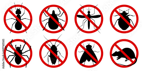 Foto Anti pest control ban, prohibition parasitic insects