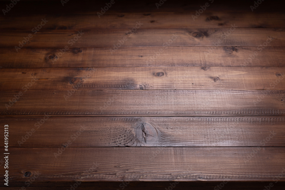 Wooden table top background texture.   Wood tabletop front view - obrazy, fototapety, plakaty