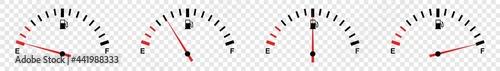 Valokuva full fuel gauge icon set, vector illustration