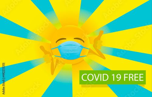 Leinwand Poster Covid free