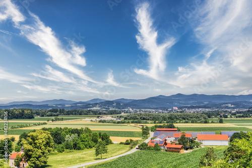 Obraz na plátne Rural summer landscape scenery of Winzer, bavaria