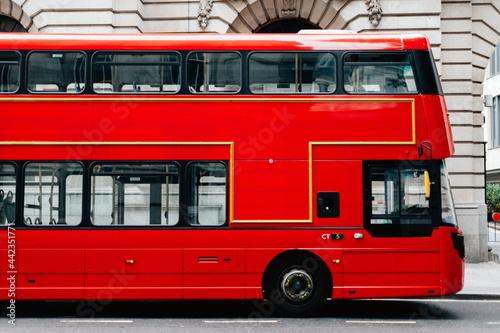 Fotografiet Red double decker bus in London