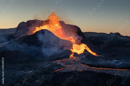 Fagradalsfjall volcano eruption in Iceland Fototapet