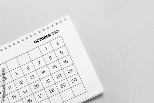 Fotografija Flip paper calendar on light background, closeup