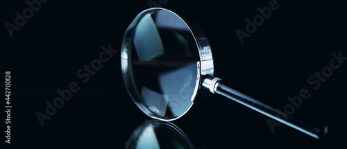 Fotografiet Search and detect magnifying glass