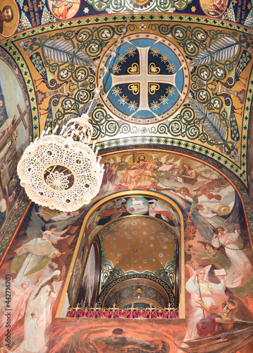 Fotografie, Obraz The interior of the Holy- Ascension Cathedral
