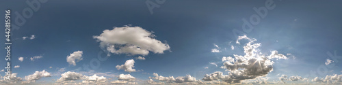 Fotografering clear blue sky with white beautiful clouds