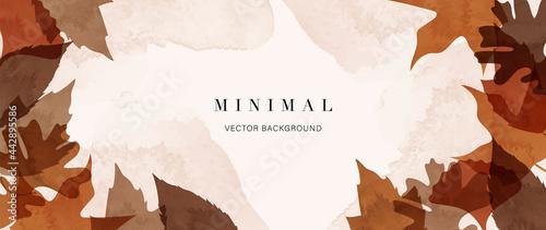 Fotografie, Tablou Abstract art autumn background vector