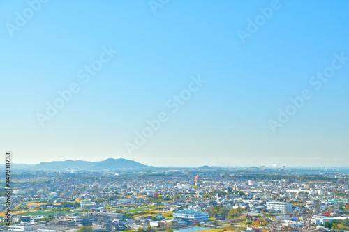 Fototapeta 愛知県豊橋市の街並み