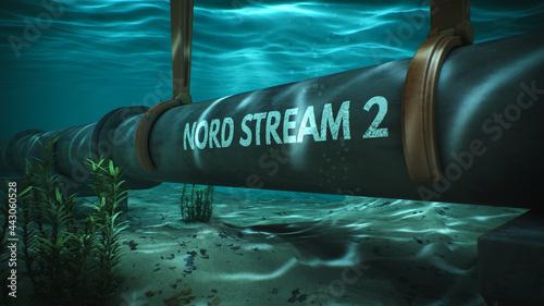 Fotografia, Obraz Building of gas pipe under water