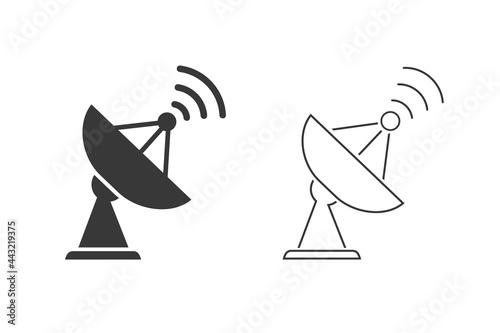 Fotomural Satellite vector icon set, wireless satellite icon sign