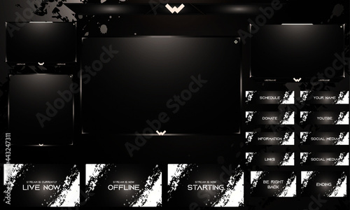 Fotografia Twitch Overlay Live Stream template set