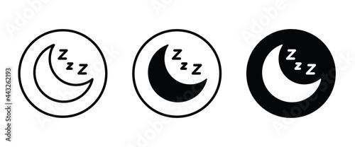 Fotografiet moon icons button, vector, sign, symbol, logo, illustration, editable stroke, fl