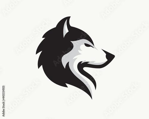 Canvas Print elegant head wolf side view drawing art logo design illustration inspiration